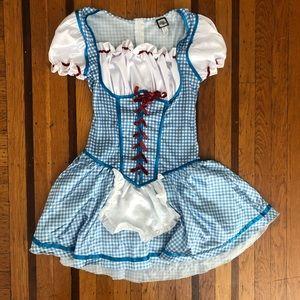 EUC Dorothy Wizard of Oz dress costume M 4 6 blue